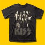 KISS Group 1974 Black T-Shirt