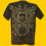 Kiss Battle Crest Mineral Wash T-Shirt