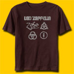 Led Zeppelin Brown T-Shirt