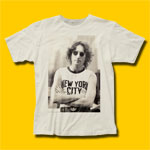 John Lennon New York City Vintage White T-Shirt