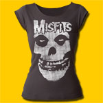 Misfits Distressed Skull Girls Cut T-Shirt