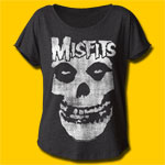 Misfits Distressed Skull Girls T-Shirt