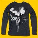 Daredevil Distressed Punisher Long Sleeve T-Shirt