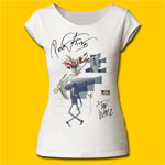 Pink Floyd The Wall Wife & Teacher Girls Cut Vintage White Tee