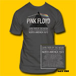 Pink Floyd US Tour 1972 Grey T-Shirt