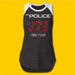 The Police 1982 Tour Girls Cut Raglan