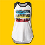 The Police Synchronicity Girls Cut Raglan