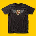 REO Speedwagon Wings Logo Black T-Shirt