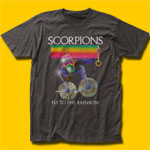 Scorpions Fly To The Rainbow Classic Rock Coal T-Shirt