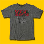 Social Distortion Prison Bound Heather Grey T-Shirt