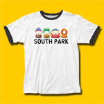 South Park Lineup Ringer T-Shirt