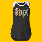 Styx Rainbow Logo Girls Heather Cut Raglan