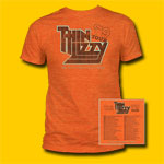 Thin Lizzy US Tour 1979 Heather Orange T-Shirt