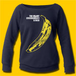 Velvet Underground Distressed Banana Navy Sweatshirt