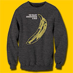 Velvet Underground Banana Charcoal Heather Sweatshirt