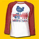 Woodstock Dove & Guitar 3/4 Sleeve T-Shirt