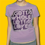 Led Zeppelin Gotta Whole Lotta Love Women's Lilac T-shirt