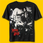 Jimmy Page On Motorcycle T-Shirt