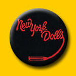 New York Dolls Lipstick Logo 1 Inch Button