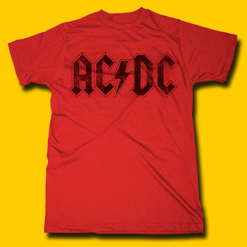 AC/DC Logo Red T-shirt