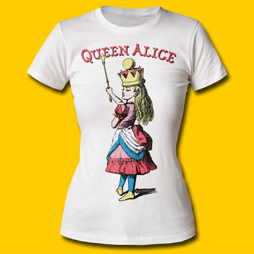 f939237c4 Alice's Adventures in Wonderland Queen Alice Girls Crew White T-Shirt