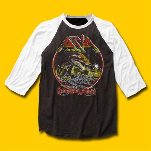 66c654e1db3 Asia American Tour Baseball Jersey 3 4 Sleeve T-Shirt