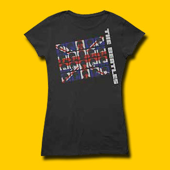 The Beatles UK Invasion Girls Jersey Tee