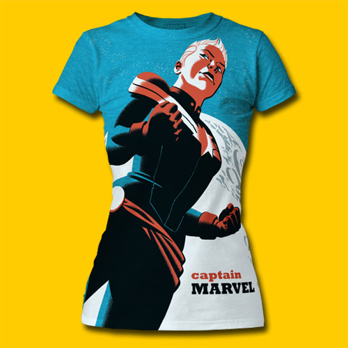 Captain Marvel Michael Cho Design Girls T-Shirt