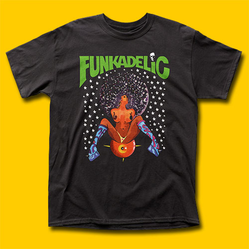 Funkadelic Afro Girl Black T-Shirt