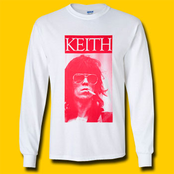 Keith Richards Sigarette Long Sleeve T-Shirt
