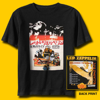 f735a713 Led Zeppelin Handbill Japan Tour T-Shirt