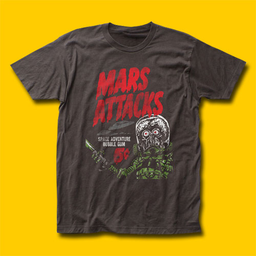 Mars Attacks Space Adventure Movie T-Shirt