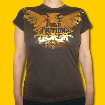 Pulp Fiction Gold Foil Girls Jersey Tee
