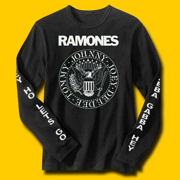 Ramones Logo Black Long Sleeve T-Shirt