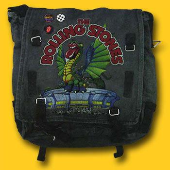 Rolling Stones Vintage Dragon Denim Messenger Bag