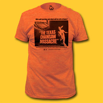 Texas Chainsaw Massacre Who Will Survive Heather Orange Movie T-Shirt