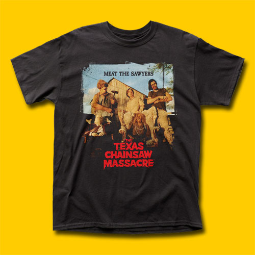 The Texas Chain Saw Massacre Meat The Sawyers Movie T-Shirt
