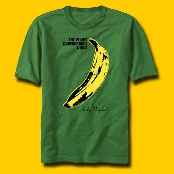 Velvet Underground Rock T-Shirts - Banana Green Rock T-Shirt