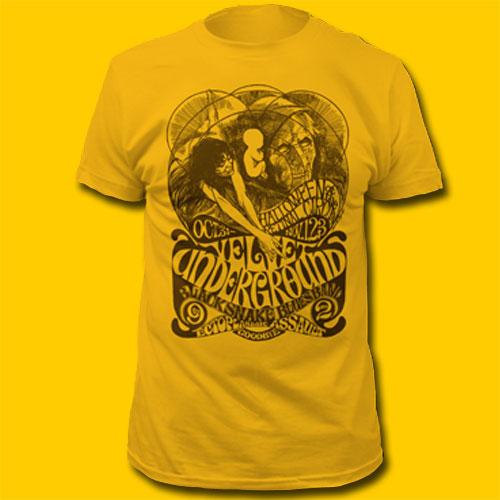 Velvet Underground Halloween Yellow Rock T-Shirt d6b111bec24