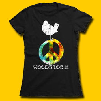 Woodstock Black Juniors Boyfriend Tee