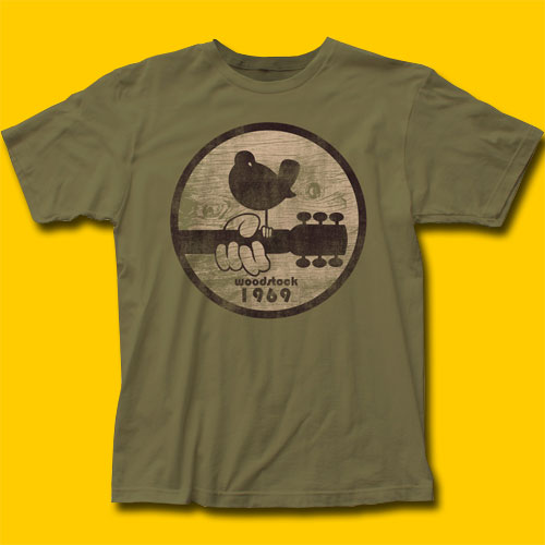Woodstock 1969 Army Green T-Shirt