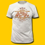 AC/DC High Voltage Vintage White T-Shirt