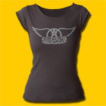 Aerosmith Logo Girls Cut T-Shirt
