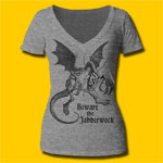 Alice's Adventures in Wonderland Jabberwock Girls V-Neck T-Shirt
