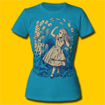 Alice's Adventures in Wonderland Pack Of Cards Girls Crew T-Shirt