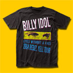Billy Idol Rebel Yell Tour 1984 Black T-Shirt