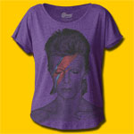 David Bowie Aladdin Sane Rock Girls Blend T-Shirt