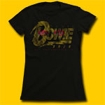 David Bowie 1974 Tour Girls Jersey Tee