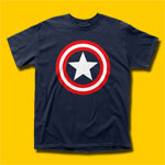 Captain America Shield on Navy T-Shirt