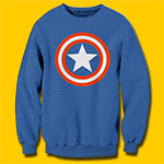 Captain America Shield Heather Royal Sweatshirt